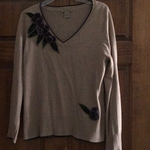 Peck & peck gorgeous beige sweater, like new